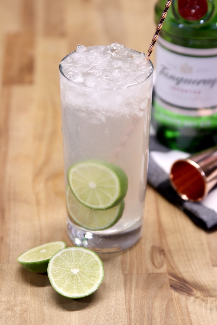 Gin Rickey Cocktail with Tanqueray Gin