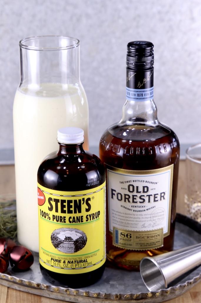 Ingredients for Spiked Eggnog