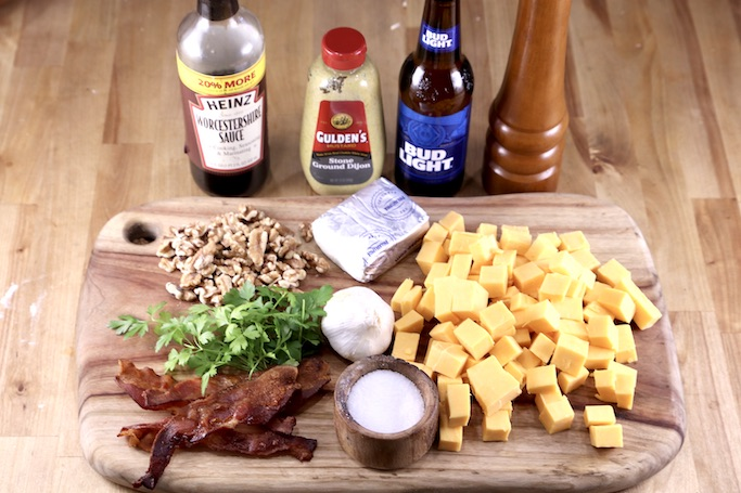 Ingredients for Bacon Beer Cheese Dip