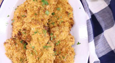 Air Fryer Cornflake Chicken on a platter
