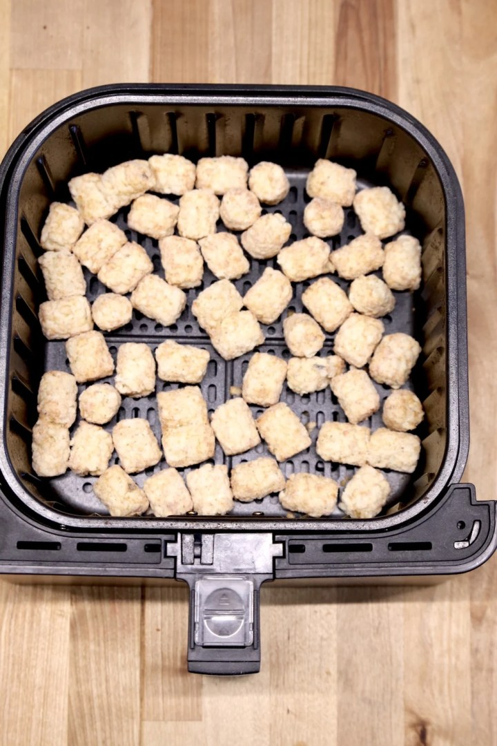 Air fryer basket with frozen tater tots
