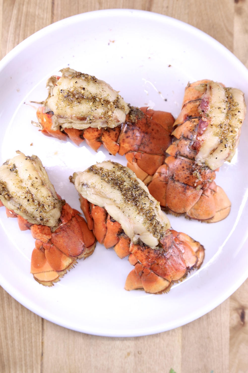 plate of grilled lobster tails