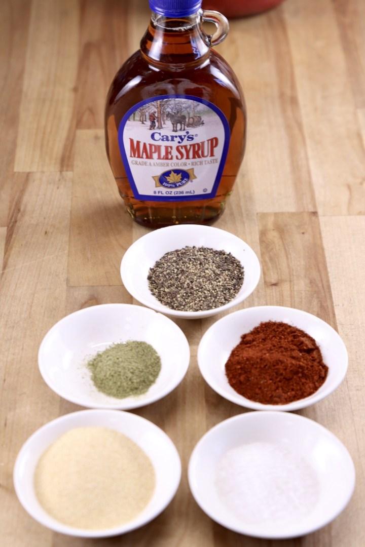 ingredients for maple glaze