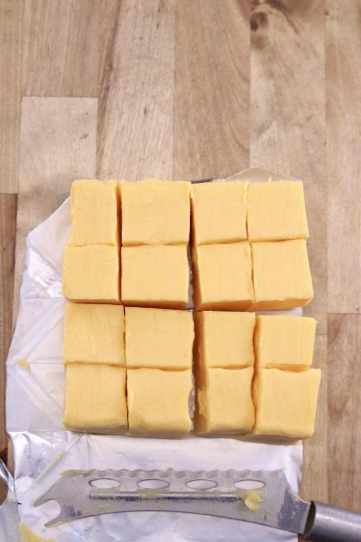 Velveeta cheese cut into chunks