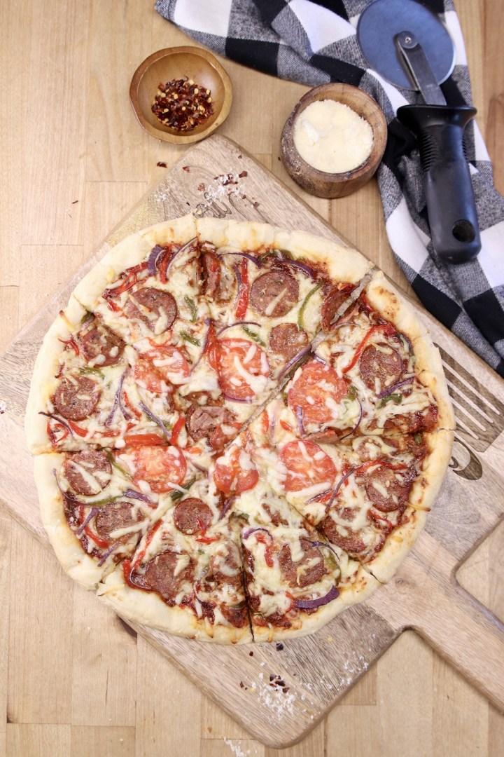 Smoked Sausage Pizza