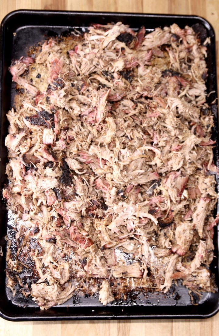 Shredded smoked pork