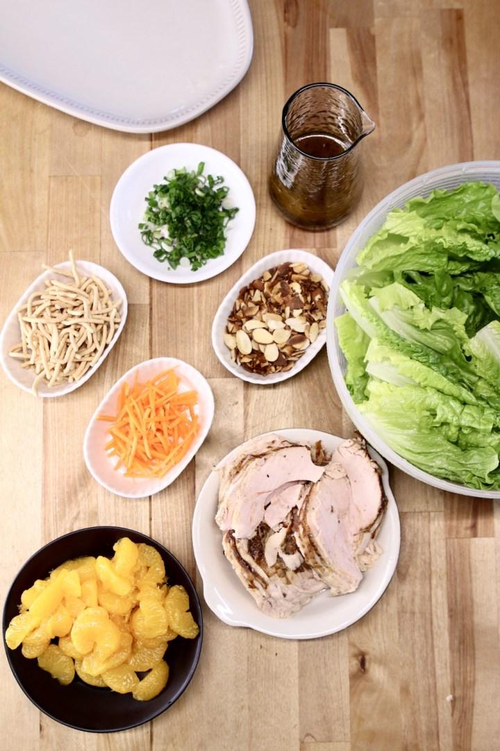 ingredients for mandarin orange chicken salad