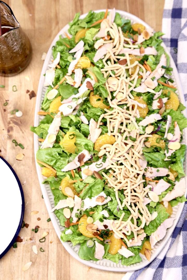 platter with Mandarin Orange Chicken Salad