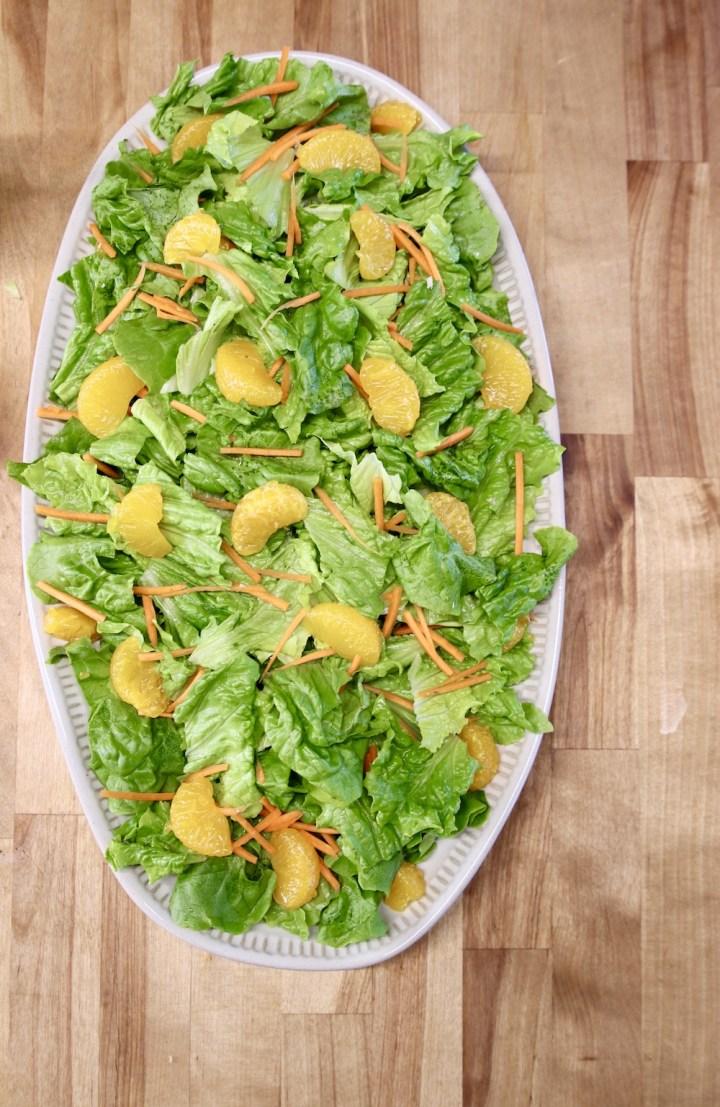 platter of orange salad with carrots