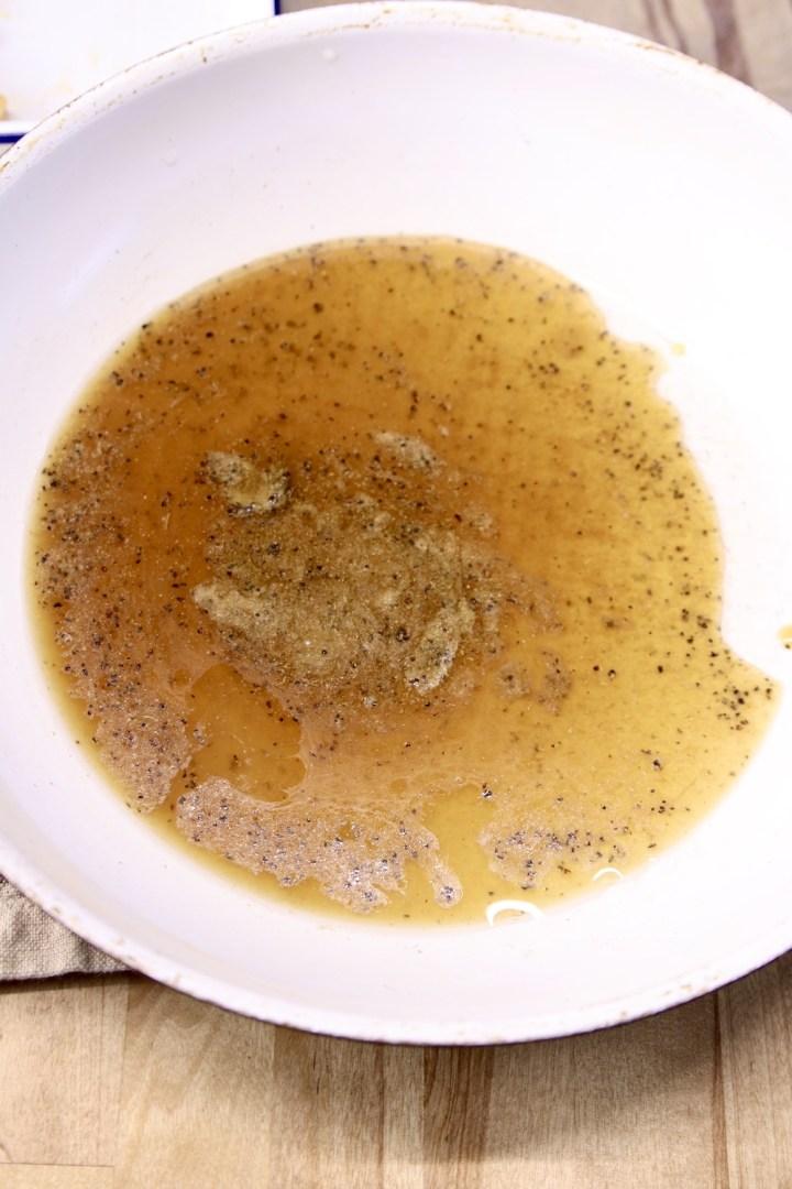 honey garlic sauce in a large skillet