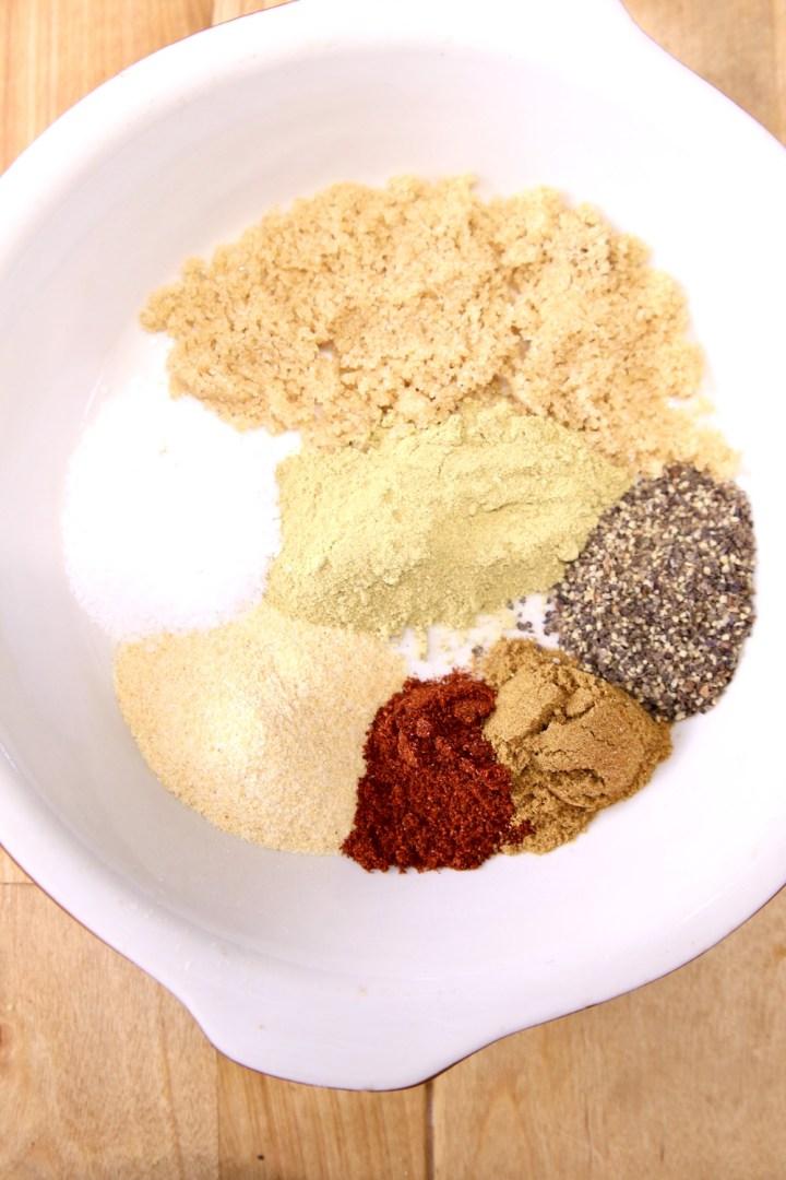 spices in a bowl for steak fajita marinade