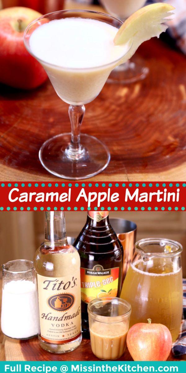 collage caramel apple martini/ingredients