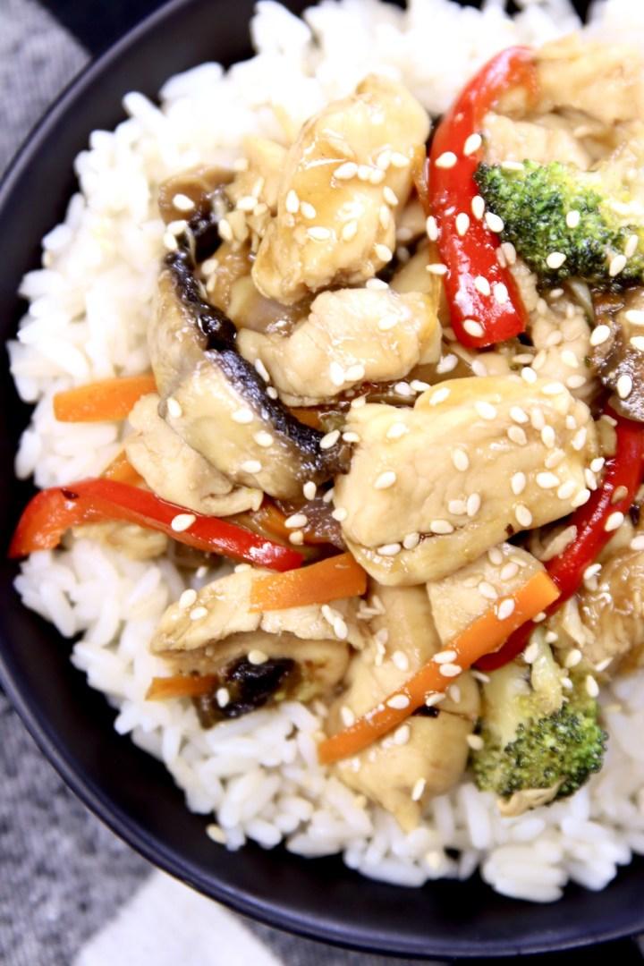 chicken stir fry with rice