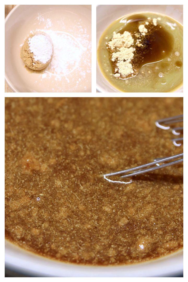 collage making stir fry sauce
