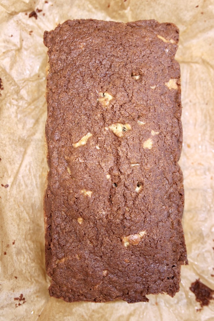 cinnamon apple bread on brown parchment