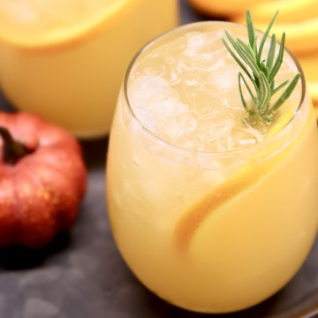 wine glass of harvest party punch