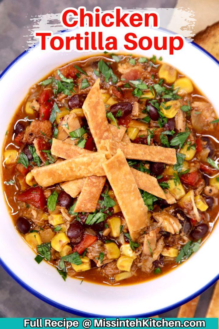 chicken tortilla soup - text overlay
