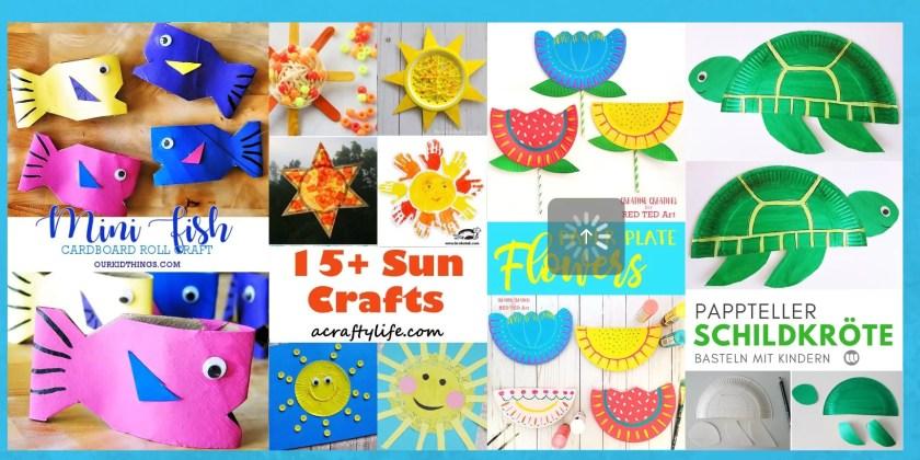 Basteln Sommer Kinder tolle Ideen
