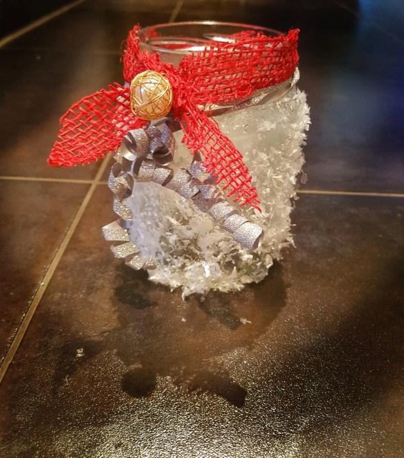 Windlicht basteln, Geschenke mit  Kindern basteln – schickes Schnee Windlicht, Mission Mom