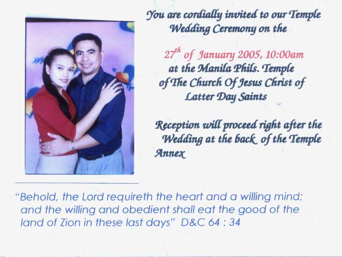 Wedding Invitation Randy Alejaga Ros 24 Jan 2005