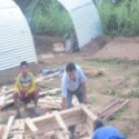 Nepal Mission Rajendra-Nhisutu-and-HIMET-volunteer-are-making-zinc-slate-tents-1 RELIEF, REHABILITATION and RE-CONSTRUCTION