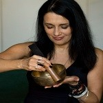 Nepal Mission Playing-Singing-bowl BOWL HEALS MIND AND BODY