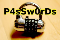 image of a lock and the word passwords