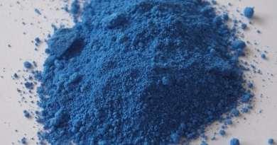 Polvere blu cobalto