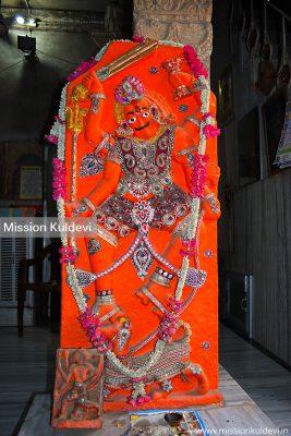 Bhairav in Piplad Mata Temple, Pipar city (Jodhpur)