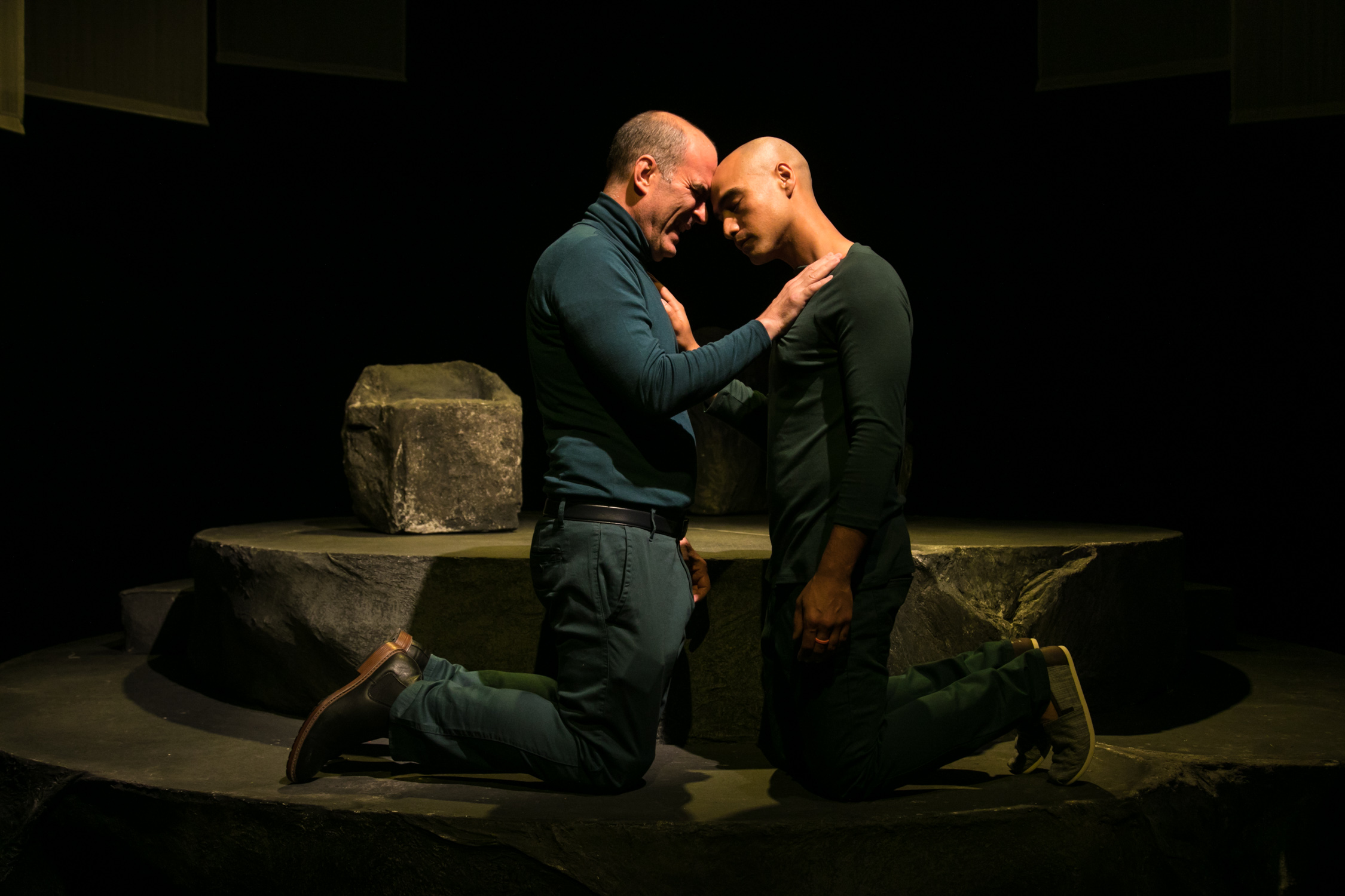 Lawrence Radecker as Dave (left) and Shoresh Alaudini as Gil (right)  Photo by Cheshire Isaacs