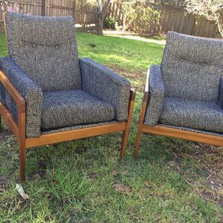 Pair Don Rex arm chairs
