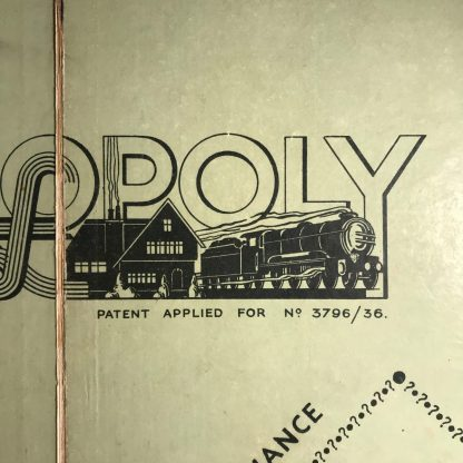 mission modern 1930s monopoly board and box j0170c