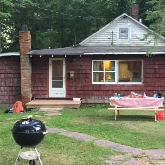 cottage 2, before exterior, family picnic
