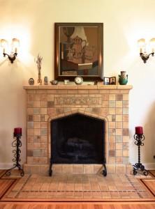 tile fireplace design ideas mission