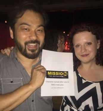 Dave Shih wins the coveted prize of getting a character named after him in co-founder Kari Bentley-Quinn's next play