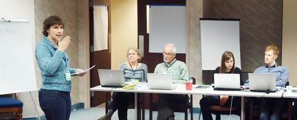 Julie Morgenstern teaching