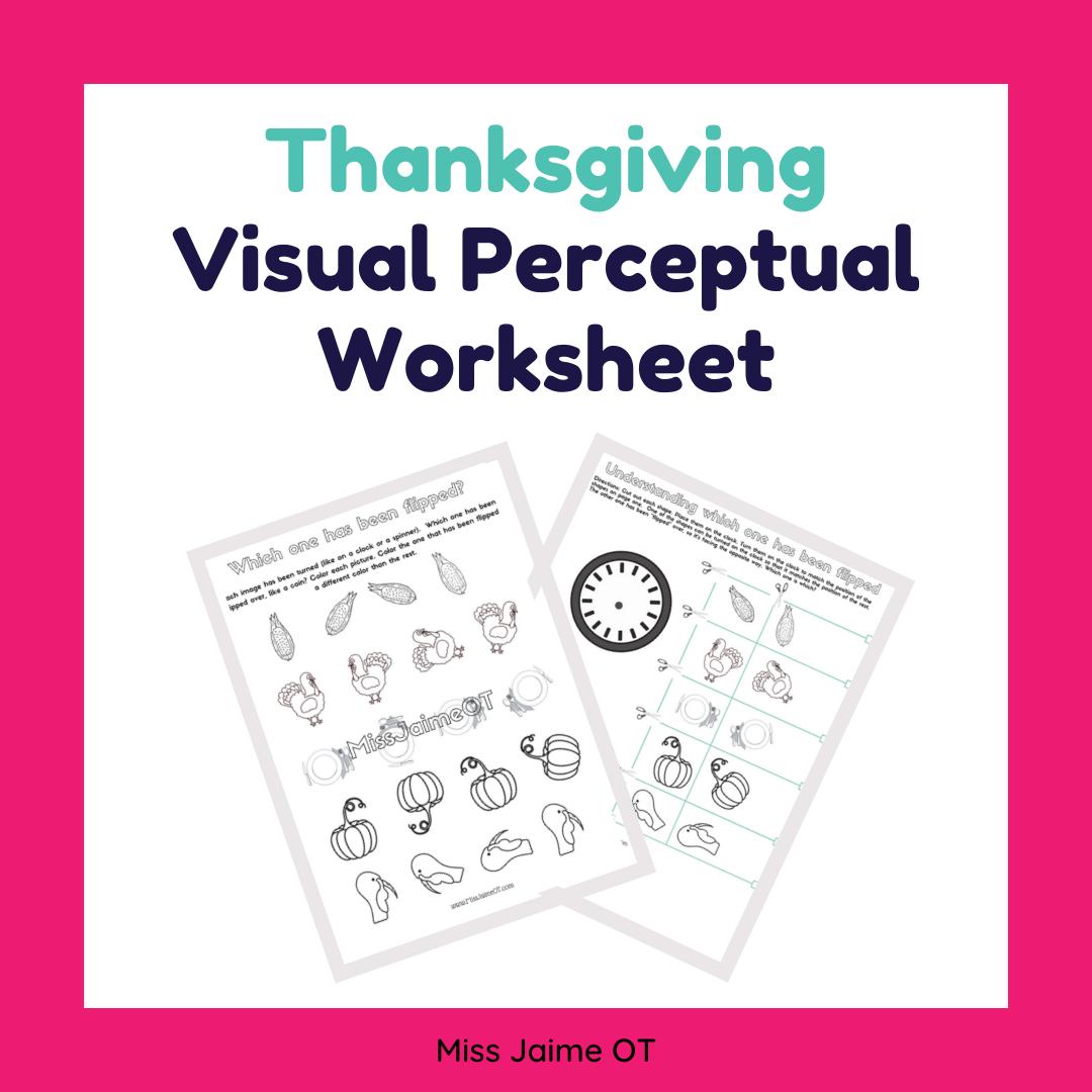 Thanksgiving Visual Perception Worksheet