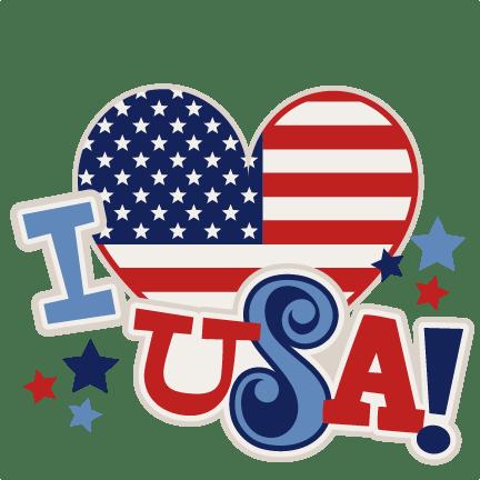 Download I Heart USA Title SVG scrapbook cut file cute clipart ...