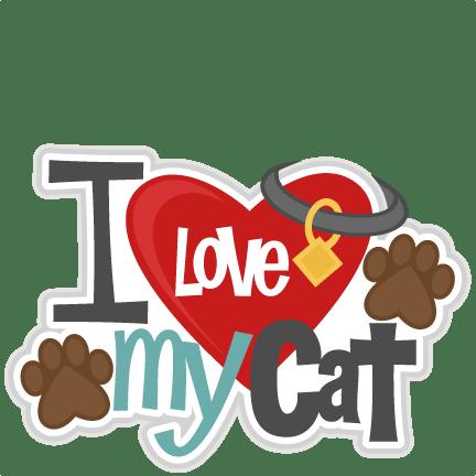 Download I Love My Cat Title SVG scrapbook cut file cute clipart ...