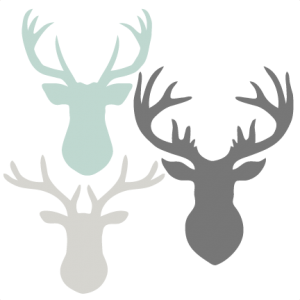 Download Deer Head Set SVG scrapbook cut file cute clipart files ...