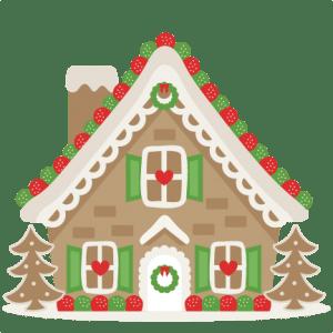 Gingerbread House SVG Scrapbook Cut File Cute Clipart