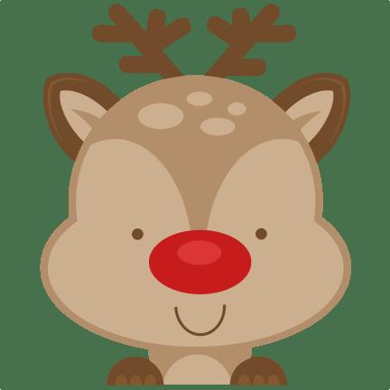 Download Peeking Reindeer SVG scrapbook cut file cute clipart files ...