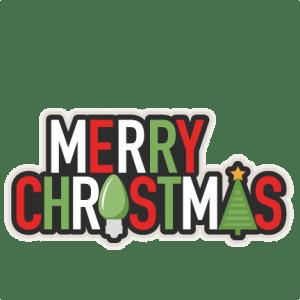 Merry Christmas Phrase SVG Scrapbook Cut File Cute Clipart