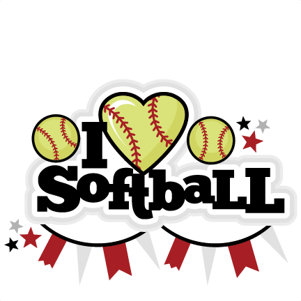 Download I Heart Softball Title scrapbook cut file cute clipart ...