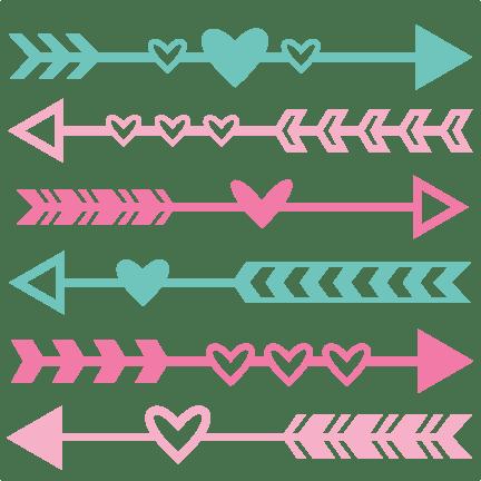 Valentine Arrow Set SVG Scrapbook Cut File Cute Clipart