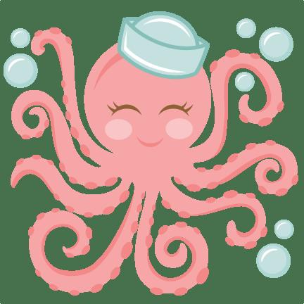 Miss Kate Cute Octopus SVG Cut File