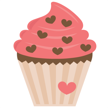 Valentine Cupcake SVG File For Scrapbooking Cardmaking
