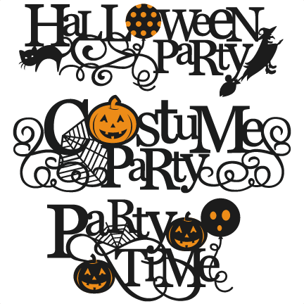 Download Halloween Party Titles SVG scrapbook title SVG cutting ...