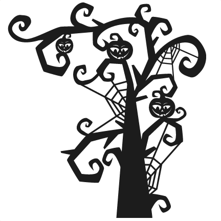 Download Spooky Tree SVG scrapbook title SVG cutting files ...