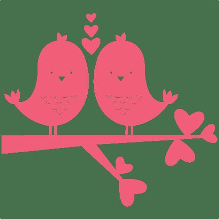 Download Birds In Love scrapbook titles SVG cutting files robot cut ...